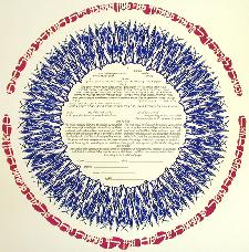 Ketubah Artists - Perfections-Blue