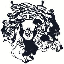 Judaic Art - Dancing Rabbis