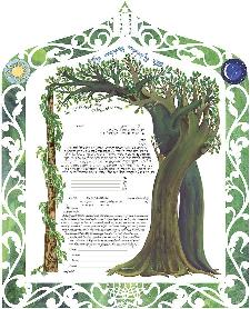 Ketubah Artists - Intertwined Trees